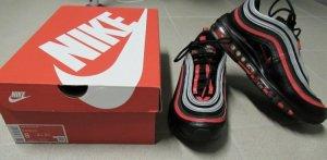 Nike Air Max 97 - Schwarz/Rot/Silber--Gr. 41