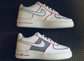 Nike Airforce 1 Custom Outliners Gr.39
