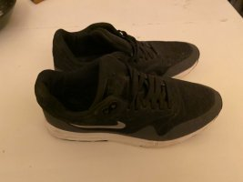 Nike Lace Shoes black-silver-colored