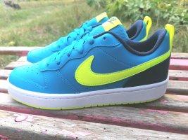 Nike Zapatos de patinador amarillo-azul neón