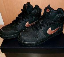 Nike Wysokie trampki czarny-brąz