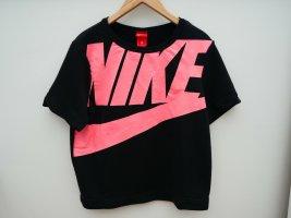 Nike Cropped Shirt, Retro, Gr. M, Schwarz