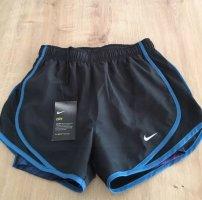 Nike Dry Fit Sporthose mit Innenhose, Schwarz,XS