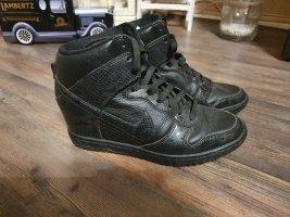Nike Zapatillas altas negro Cuero