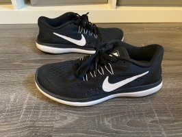 Nike Flex schwarz weiß sneaker turnschuhe Jogging Laufschuhe neu