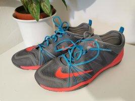 Nike Free Damen Workoutschuhe Cross Compete grau neonrot Größe 41