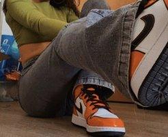 Nike Jordan 1 Orange Turf Mids