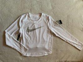 Nike Langarmshirt S 36 NEU weiß silber Pulli Pullover Funktionsshirt