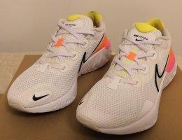 Nike Laufschuhe Sneakers  weiß/neon Gr. 41