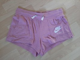 Nike leichte Sweat Shorts rosa weiß Gr. L