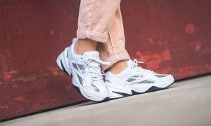 Nike Zapatilla brogue blanco-color plata