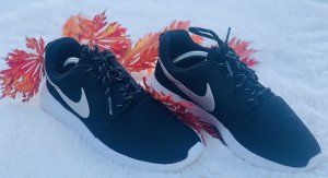 ❤️ Nike Roshe Run 705217 Damen 38 Sneaker schwarz weiss weiß