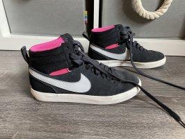 Nike sneaker high neu Leder schwarz pink rosa Turnschuhe