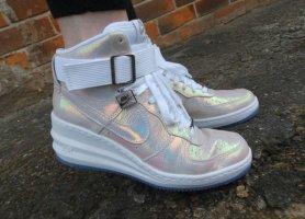 Nike Sneaker WMNS Lunar Force 1 Sky High Top Wedges begehrt Gr. 36 ausverkauft neuwertig Blogger Perlmutt
