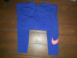 Nike Sport activewear blaue Leggings Laufhose S 36