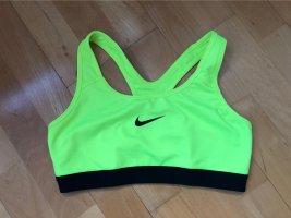 Nike Biustonosz żółty neonowy-czarny
