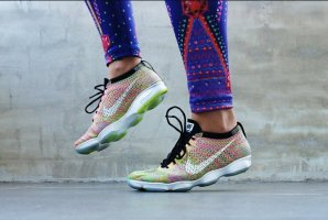 Nike Wmns Flyknit Zoom Agility Multicolor Rainbow sneaker trainer's running