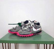 Nike x Off-White Waffle Racer Gr. 38 Sneaker schwarz pink weiss Vigil Abloh Print
