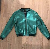 NIKKIE Selected By Kate Moss Liverpool Blouson / Bomberjacke grün glänzend Gr. M