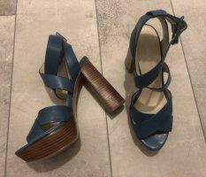 Nine west Platform Sandals petrol-cadet blue