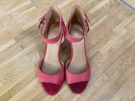 Nine west Wedge Sandals raspberry-red