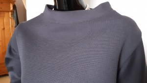 NIU' Stand-Up Collar Blouse dark blue