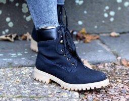 Noah Vegan Shoes Claudia & Claudio blu - Stiefeletten Boots schwarz Gr. 37