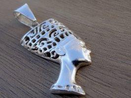 Nofretete Anhänger Sterling Silber 925 Nefertiti Ägypten Symbol Schmuck