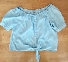 Noisy May leichte Jeansbluse hellblau Gr. 38/40