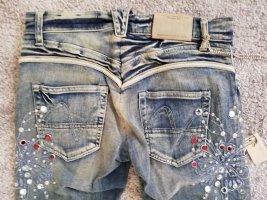 Nolita Boot Cut Jeans mit Steinchen und Stickerei Größe 26