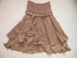 Nolita Flared Skirt rose-gold-coloured cotton