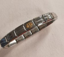 Nomination Composable Classic Armband mit 15 Gliedern Waage 750er Gold