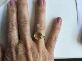 Nomination Gouden ring zandig bruin-donkergeel Gemengd weefsel