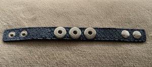 Noosa Amsterdam Lederen armband korenblauw