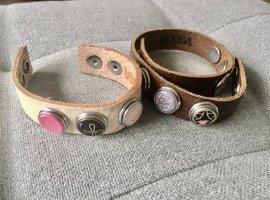 Noosa Amsterdam Leather Bracelet multicolored