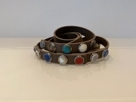 Noosa Amsterdam Double Belt multicolored leather