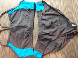 Noric Bikini Set | Braun, Blau | Größe 38/M