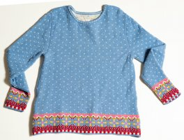 LILAland Norwegian Sweater azure-cornflower blue wool