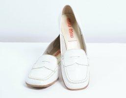 Miu Miu Moccasins natural white-white leather