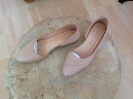 Hess Natur Ballerina's met kant nude Leer
