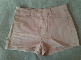 nude-farbene Jeans-Shorts