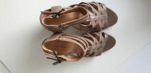 nude grau Sandalette Gr. 40, Absatz 7 cm