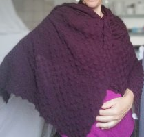 NÜ Denmark Gebreide sjaal bordeaux-roodbruin Viscose