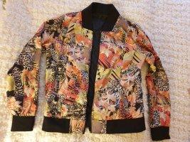 NÜMPH zweiseiten Jacke ( eine Seite schwarz , zweite bunt )