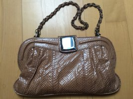 Nurage Fake-ReptilienOptik Clutch in Cognac