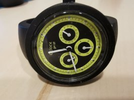O bag Orologio digitale nero-giallo lime