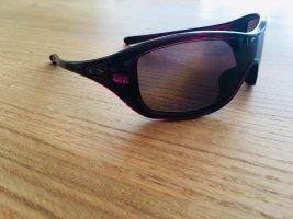 Oakley Lunettes de soleil ovales brun pourpre