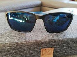 Oakley Lunettes de soleil angulaires noir-bleu fluo
