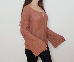 Oasis Bluse Oberteil Top Rost Braun Nude Orange L Elegant