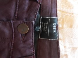 Oasis Pantalón de cuero violeta amarronado